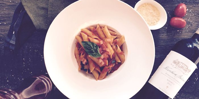 Penne with Tomato and Chilli Pepper, Sole Mio, Central, Hong Kong