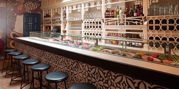Bar Counter of Sabio Tapas Bar in Duxton, Singapore