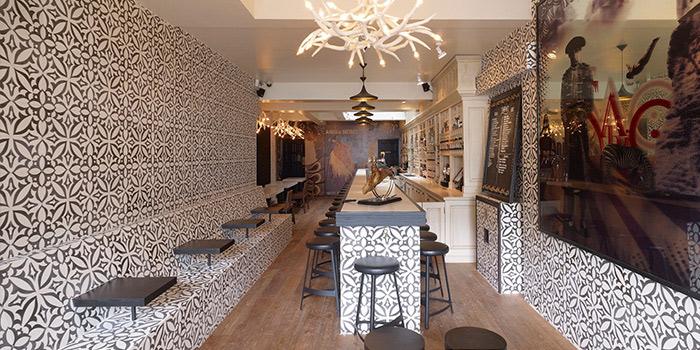 Interior of Sabio Tapas Bar in Duxton, Singapore