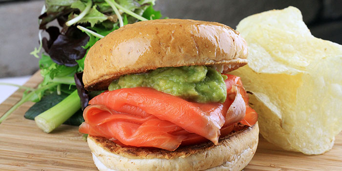 Smoked Salmon Burger from Two Blur Guys in Tanjong Pagar, Singapore