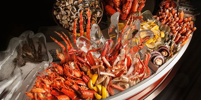 Seafood Counter from The Line in Shangri-La Hotel in Orchard, Singapore