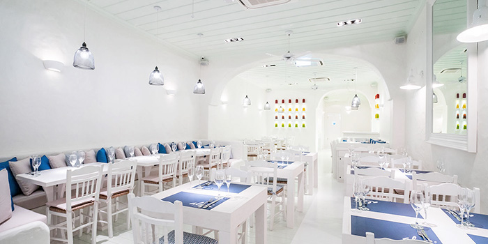 Interior of Alati Divine Greek Cuisine in Tanjong Pagar, Singapore