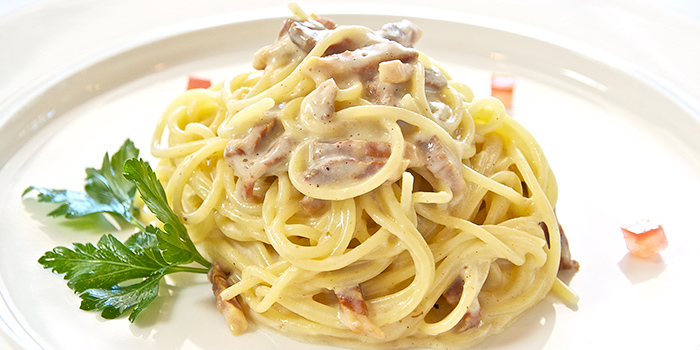 Carbonara from La Barca Ristorante & Wine Bar in Mountbatten, Singapore