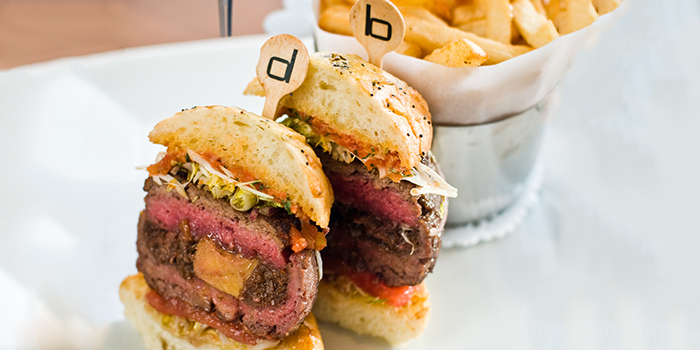 Signature db Bistro Burger from db Bistro & Oyster Bar in The Shoppes at Marina Bay Sands, Singapore