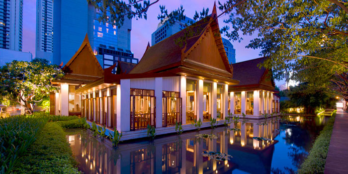 Exterior of Celadon at The Sukhothai Bangkok in Sathorn, Bangkok
