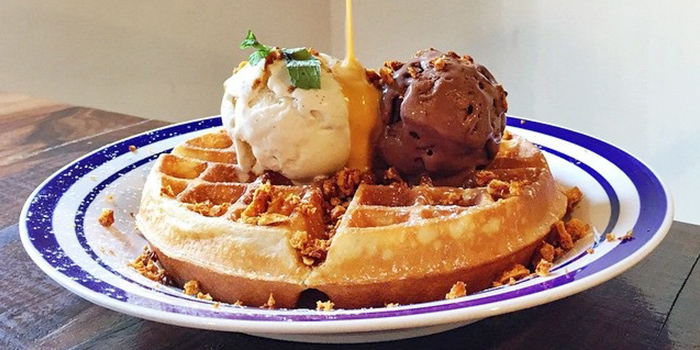 Gold Rush Waffle from Group Therapy Coffee in Duxton, Singapore