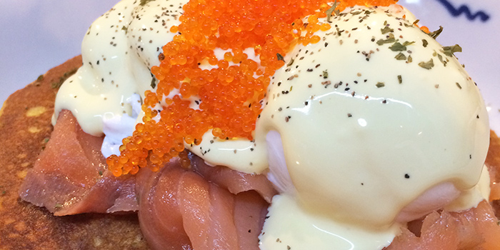 Salmon Pancakes from Group Therapy Coffee in Duxton, Singapore
