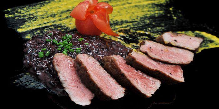 Steak Dish from NOX - Dine in the Dark in Bugis, Singapore
