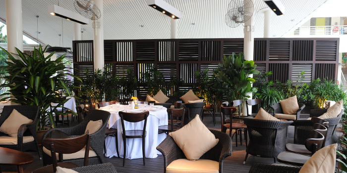 Outdoor Area of La Barca Ristorante & Wine Bar in Mountbatten, Singapore