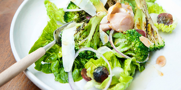 Charred Broccoli Salad from Privé Clarke Quay in Clarke Quay, Singapore