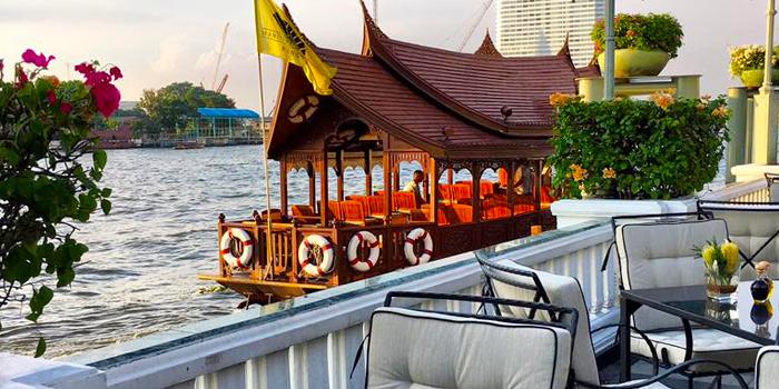 Riverside View from Ciao Terrazza at at the Mandarin Oriental, Bangkok