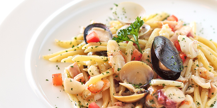 Seafood Pasta from La Barca Ristorante & Wine Bar in Mountbatten, Singapore