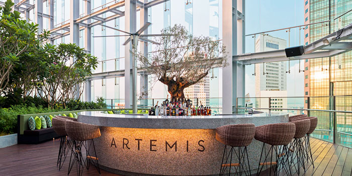 Bar Counter of Artemis in Raffles Place, Singapore