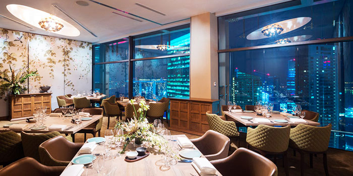 Dining Area of Artemis in Raffles Place, Singapore