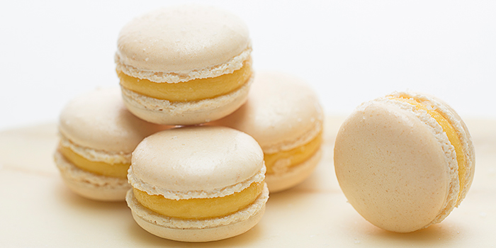 Salted Egg Yolk Macarons from Corner House in the Singapore Botanic Gardens, Singapore