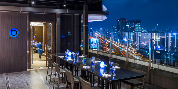 Dining Table form Blue Sky Rooftop Bar & Dining at Central Plaza Ladprao, Bangkok