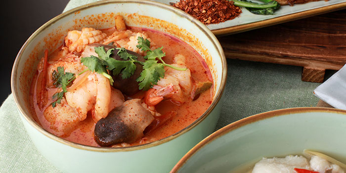 Tom Yum Soup from GREAThai (East Village) in Changi, Singapore