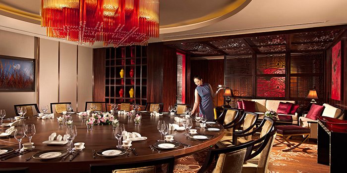 Private Dining Room in Hai Tien Lo in Pan Pacific Singapore in Promenade, Singapore