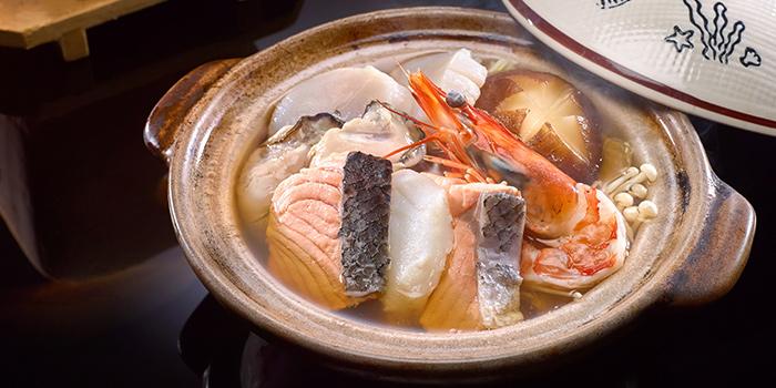 Mini Seafood Hotpot from Keyaki in Pan Pacific Singapore in Promenade, Singapore