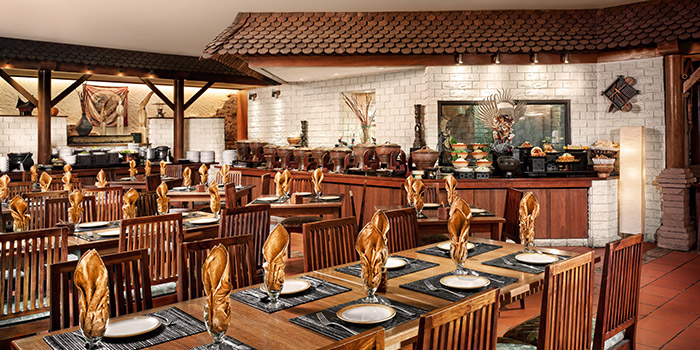 Interior of Kintamani Indonesian Restaurant at Furama RiverFront in Outram, Singapore