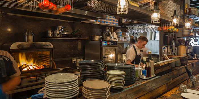 Bar Counter in Moosehead Kitchen & Bar on Telok Ayer Street in Raffles Place, Singapore