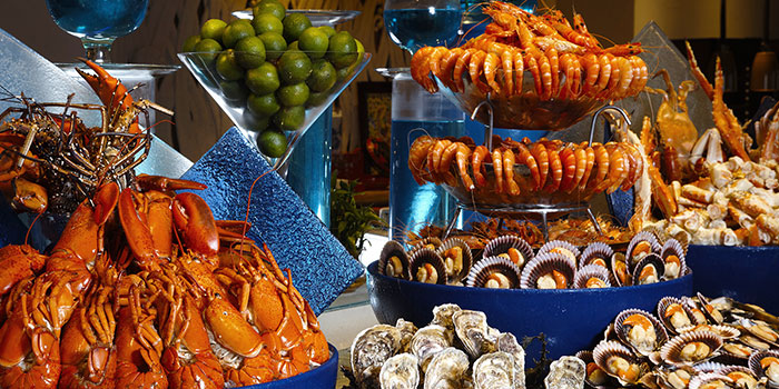 Seafood Spread of Silver Shell Cafe in Sentosa, Singapore