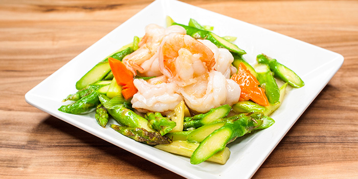 Asparagus with Prawns from Uncle Leong Signatures (Waterway Point) in Punggol, Singapore