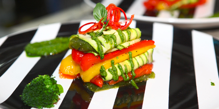 Vegetarian Mille Feuille with Pesto Sauce from Broccoli Revolution in Thonglor, Bangkok
