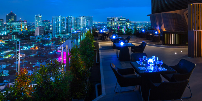 View from Blue Sky Rooftop Bar & Dining at Central Plaza Ladprao, Bangkok
