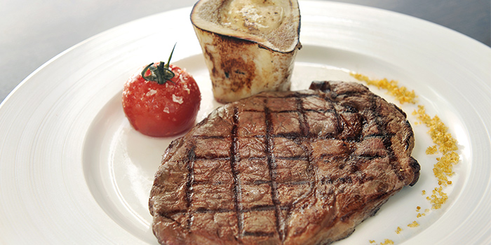 Wagyu Rib-Eyed Steak from Pool Grill in Marriott Tang Plaza Hotel Singapore in Orchard, Singapore