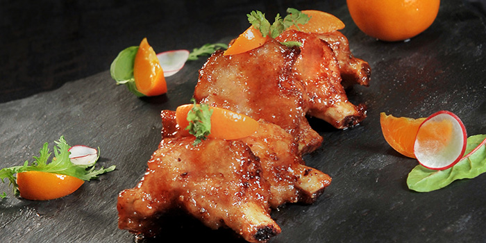 Pork Rib With Mandarin Orange from Wan Hao Chinese Restaurant at Marriot Tang Plaza Hotel in Orchard, Singapore