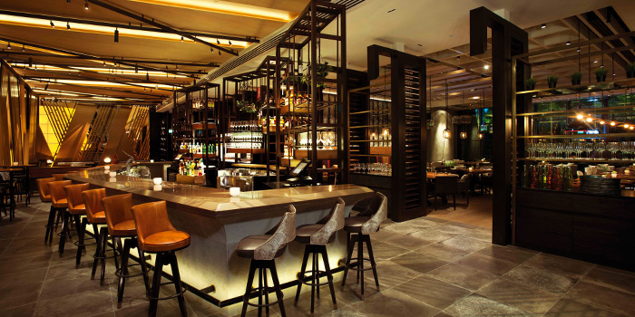Bar Area of Adrift by David Myers at Marina Bay Sands in Marina Bay, Singapore