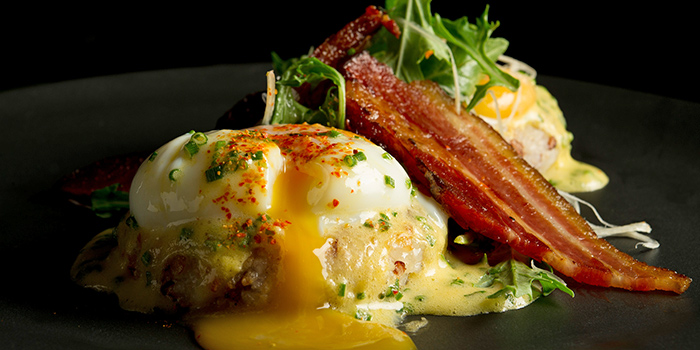Eggs Benedict from Adrift by David Myers at Marina Bay Sands in Marina Bay, Singapore