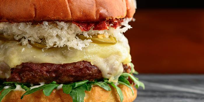 Wagyu Cheeseburger from Adrift by David Myers at Marina Bay Sands in Marina Bay, Singapore