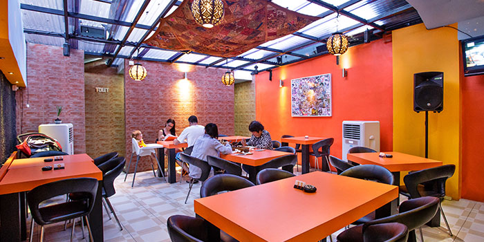 Interior of Atithi Indian Contemporary Resto & Bar in Kuta, Bali