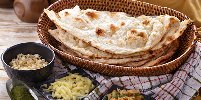 Naan from Atithi Indian Contemporary Resto & Bar in Kuta, Bali