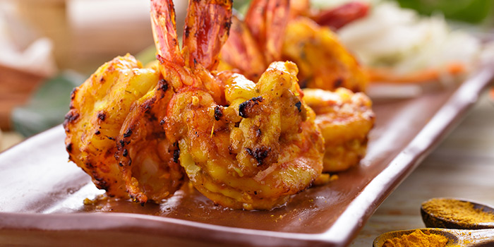 Prawns from Atithi Indian Contemporary Resto & Bar in Kuta, Bali