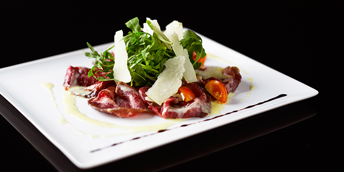 Cured Black Pepper Wagyu Beef Bresaola from Basilico in Regent Singapore in Tanglin, Singapore
