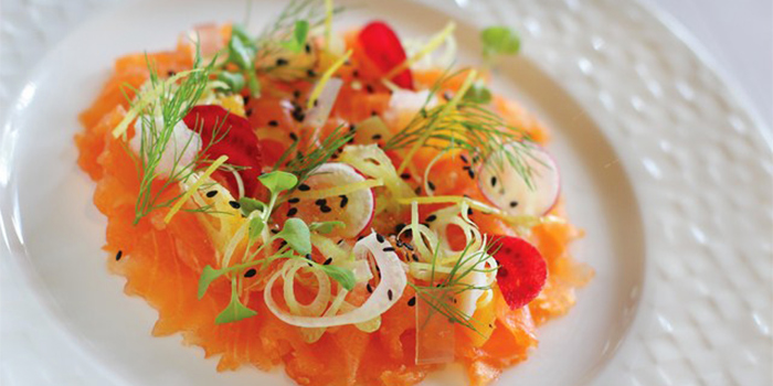 Salmon Carpaccio from Bella Cucina in Jimbaran, Bali