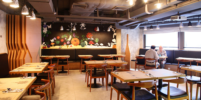 Dining Area of Wheatfield Kitchen, Causeway Bay, Hong Kong