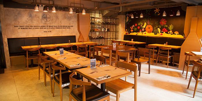 Interior of Wheatfield Kitchen, Causeway Bay, Hong Kong
