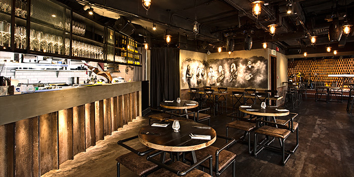 Interior of SPARK Bar & Restaurant, Central, Hong Kong