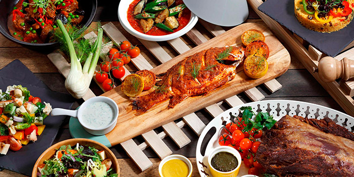 Mediterr-Asian Pasar Street Market Dinner Buffet