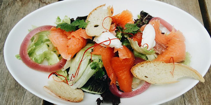 Smoked Salmon Salad from Queens Head in Kemang, Jakarta