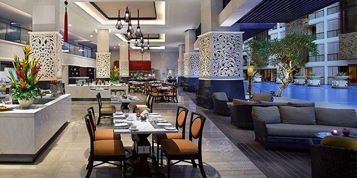 Interior of The Restaurant Trans Resort in Seminyak, Bali