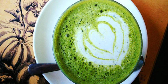 Macha Latte from Watercress in Kerobokan, Bali