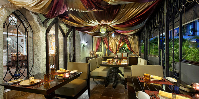 Interior of Al Nafoura (Le Meridien) at Le Meridien Jakarta in Sudirman, Jakarta