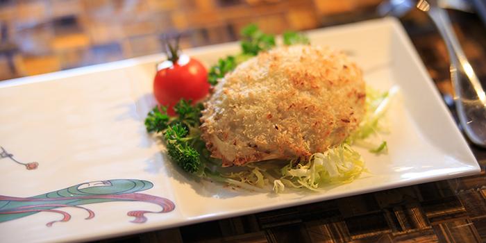 Baked Crab Shell Stuffed with Crab, Dynasty, Wan Chai, Hong Kong