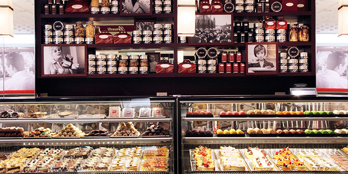 Dessert Display Case of Brunetti in Tanglin, Singapore