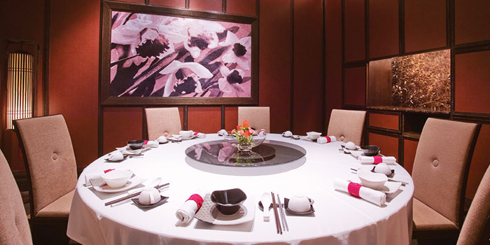 Dining Table Setting of Crystal Jade Dining IN in VivoCity in Harbourfront, Singapore